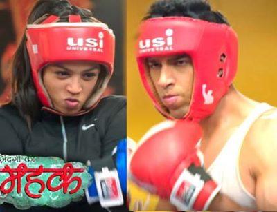 Mehek-beating-Shaurya-in-the-boxing-ring