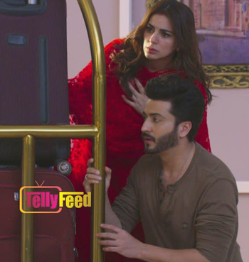Karan-and-Preeta-hiding-from-the-attackers on This is Fate 2 September Teasers 2020